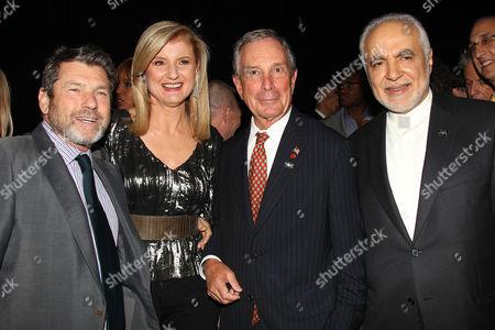 Jann Wenner, Arianna Huffington, Mayor Michael Bloomberg and Imam Feisal Abdul Rauf