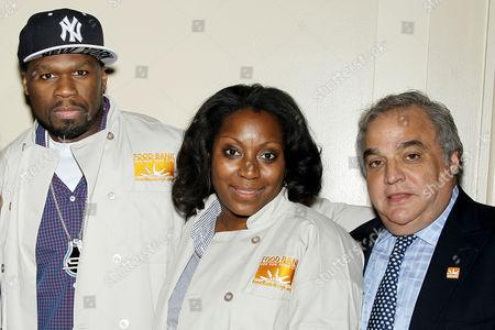 Curtis 50 Cent Jackson, Margarette Purvis and Lee Brian Schrager