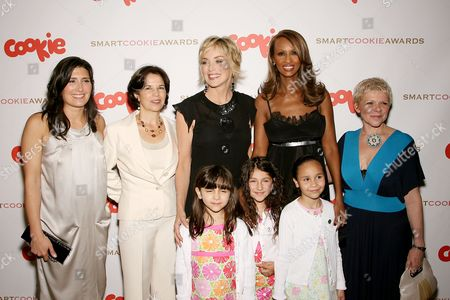 Pilar Guzman, (Editor-in-Chief Cookie Magazine),Maria Otero,Sharon Stone,Iman,Leigh Blake