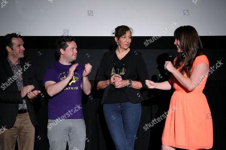 Eric Johnston, Mike Jutan, Patricia Wilson (Exec. Dir. Make-A-Wish SF), Dana Nachman (Director)