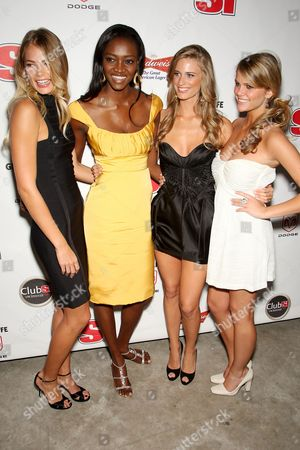 Tori Praver, Oluchi Onweagba, Julie Henderson and Brooklyn Decker