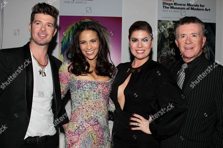 Robin Thicke, Paula Patton, Gloria Loring, Alan Thicke