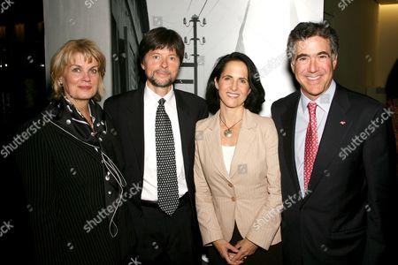 Anne Finucane (CMO Bank of America), Ken Burns, Lynn Novick (Co-director,producer) and Alan Rapport (New York President Bank of America)
