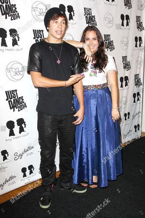 Austin Mahone and Stacy Igel (Founder,Creative Dir; Boy Meets Gir