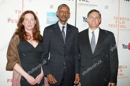 Deborah Scranton, Rwandan President Paul Kagame and Craig Hatkoff