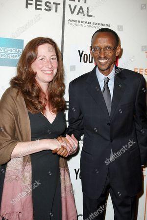 Deborah Scranton and Rwandan President Paul Kagame
