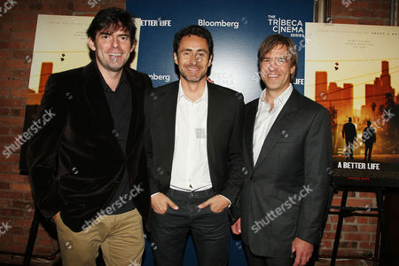 Stock Picture of Chris Weitz (Director), Demian Bichir and Christian McLaughlin