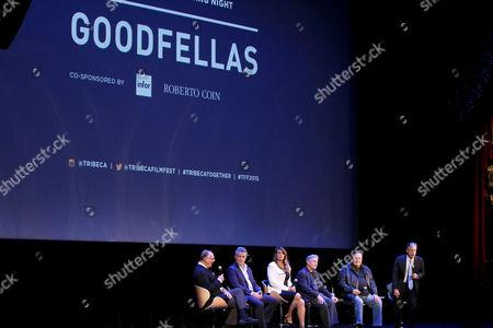 Nick Pileggi, Ray Liotta, Lorraine Bracco, Robert De Niro, Paul Sorvino, Jon Stewart