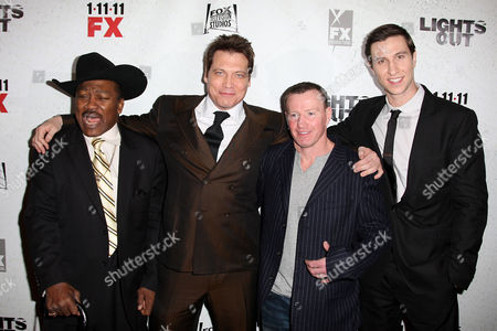 Joe Frazier, Holt McCallany, Micky Ward and Pablo Schreiber