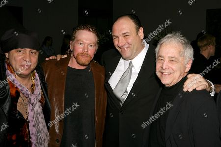 'Little' Steve Van Zandt with Axl Rose, James Gandolfini and Chuck Barris