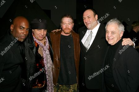 Jean Beauvoir with 'Little' Steve Van Zandt, Axl Rose, James Gandolfini and Chuck Barris
