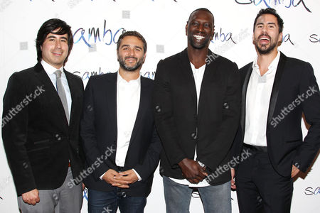 Daniel Hammond, Olivier Nakache (Co-Director; Samba), Omar Sy and Gabriel Hammond