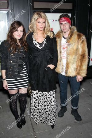 Stock Picture of Lillie Price Stevenson (daughter), Kirstie Alley with William Tru