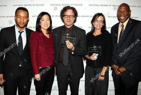 John Legend, Michelle Rhee, Davis Guggenheim, Lesley Chilcott and Geoffrey Canada