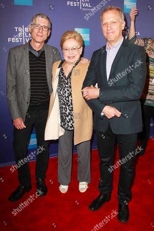 Jeffrey Friedman, Dr. Mathilde Krim and and Rob Epstein