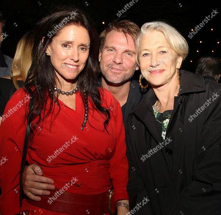 Julie Taymor, Ben Latham-Jones and Helen Mirren