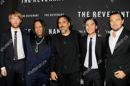 Domhnall Gleeson, Arthur Redcloud, Alejandro Gonzalez Inarritu, Forrest Goodluck