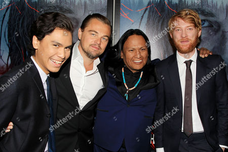 Forrest Goodluck, Leonardo DiCaprio, Arthur Redcloud, Domhnall Gleeson