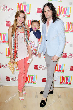 Angel Reed, Constantine Maroulis and daughter Malena James