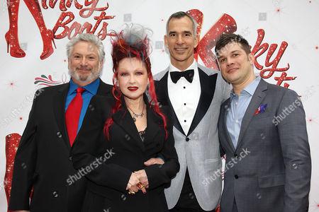 Harvey Fierstein, Cyndi Lauper, Jerry Mitchell and Stephen Oremus
