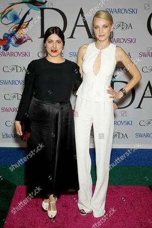 Stock Photo of Sofia Sizzi and Jessica Stam