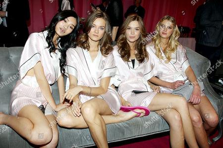 Stock Image of Models Backstage - Ming Xi, Monika Jagaciak, Model, Sigrid Agren