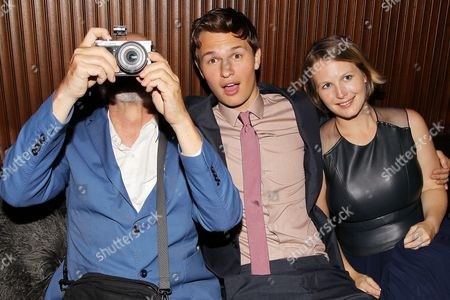 Stock Image of Authur Elgort, Ansel Elgort and Sophie Elgort