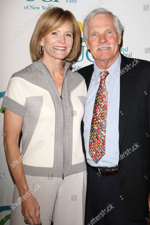 Stock Picture of Catherine Crier and Ted Turner
