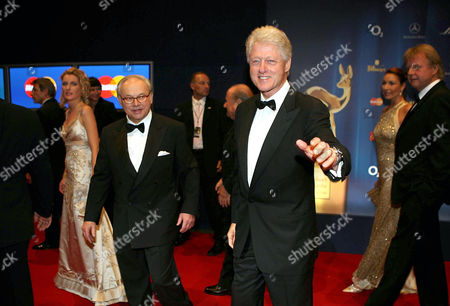 Stock Picture of Dr. Hubert Burda and Bill Clinton