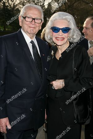 Pierre Cardin and Anne Slater