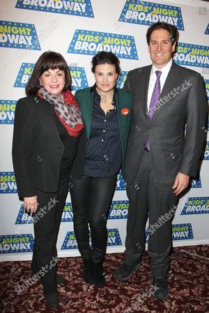 Charlotte St. Martin, Idina Menzel and Nick Scandalios