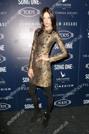 Editorial photo of 'Song One' film screening at the Cinema Society, New York, America - 20 Jan 2015