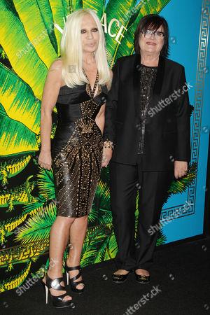 Donatella Versace and Margareta van den Bosch