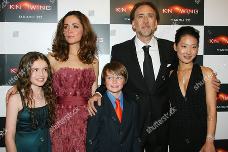 Lara Robinson, Rose Byrne, Chandler Canterbury, Nicolas Cage and wife Alice Kim
