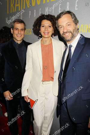 Barry Mendel, Donna Langley and Judd Apatow