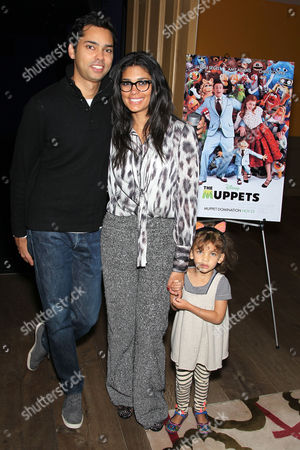 Raj Roy and Rachel Roy with daughter