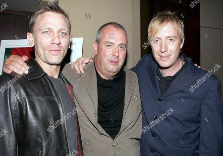 Daniel Craig, Roger Mitchell and Rhys Ifans