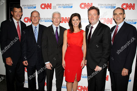 Mark Whitaker, Jim Walton, Anderson Cooper, Erin Burnett, Piers Morgan