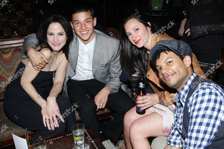 Mary-Louise Parker, Spencer Lofranco and Jaime Cepero with guest