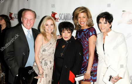 Frank Gifford, Kathie Lee Gifford, Liza Minnelli, Hoda Kotb and Kris Jenner