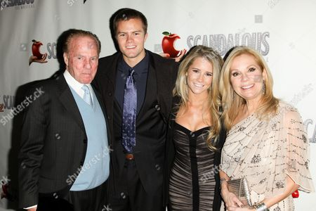 Stock Photo of Frank Gifford, Cody Gifford, Cassidy Gifford and Kathie Lee Gifford