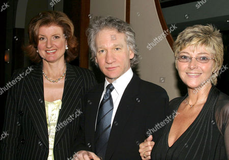 Ariana Huffington, Bill Maher and Kitty Bruce, daughter of Lenny Bruce
