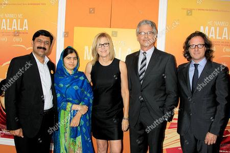 Ziauddin Yousafzai, Malala Yousafzai, Laurie MacDonald, Walter Parkes, David Guggenheim