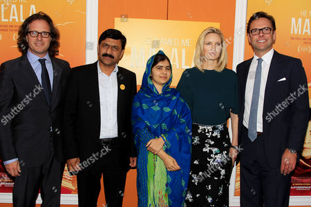 David Guggenheim, Malala Yousafzai, Ziauddin Yousafzai, Kathryn Hufschmid, James Murdoch