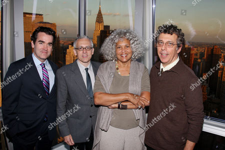 Brian d'Arcy James, Donald Margulies, Charlayne Hunter-Gault (CPJ) and Eric Bogosian