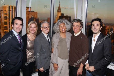 Brian d'Arcy James, Jeanne Noonan Eckholdt, Donald Margulies, Charlayne Hunter-Gault (CPJ), Eric Bogosian and Giuseppe Rossi (Developer of The Setai)