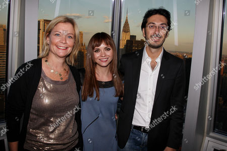 Stock Photo of Jeanne Noonan Eckholdt, Christina Ricci and Giuseppe Rossi (Developer of The Setai)