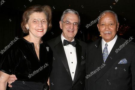 Amy Rubenstein, Howard J Rubenstein and David Dinkins