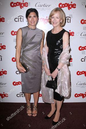 Pilar Guzman (Editor in Chief of Cookie Magazine) and Judy Woodruff