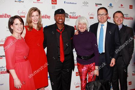 Stock Photo of Ginger Sutton, Susan Spencer, Javier Colon, Ellen Levine, David Carey and Michael Clinton